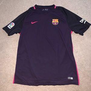 Nike FC Barcelona Men's XL purple jersey